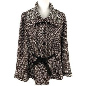 Etcetera Mohair Alpaca Blend Sleeved Cape Coat